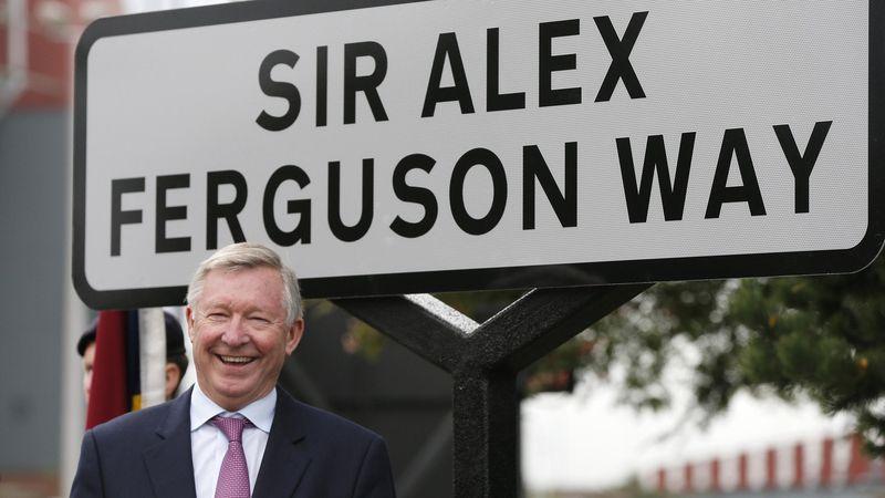Sir Alex Ferguson at Old Trafford.