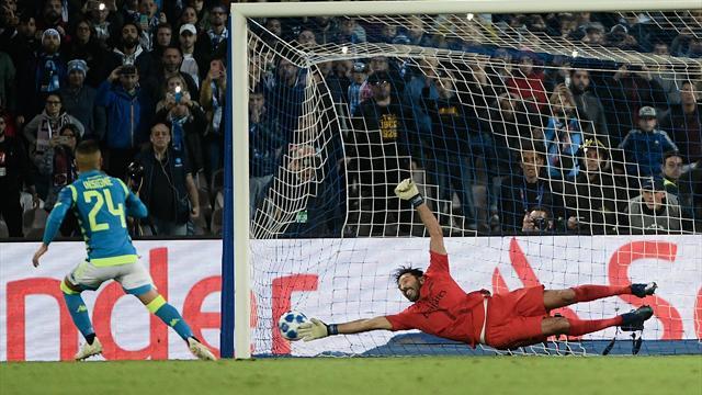 Insigne risponde a Bernat e tiene in quota il Napoli: 1-1 col PSG