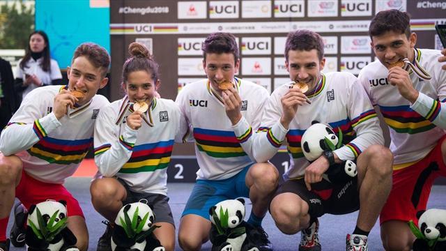 España debuta con oro en trial por equipos en el Mundial de ciclismo urbano