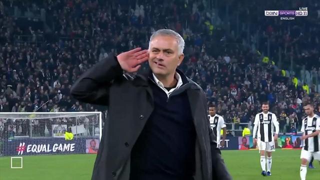 «Сделал жест, чтобы лучше слышать фанов «Юве». Моуринью приложил ладонь к уху после победы в Турине