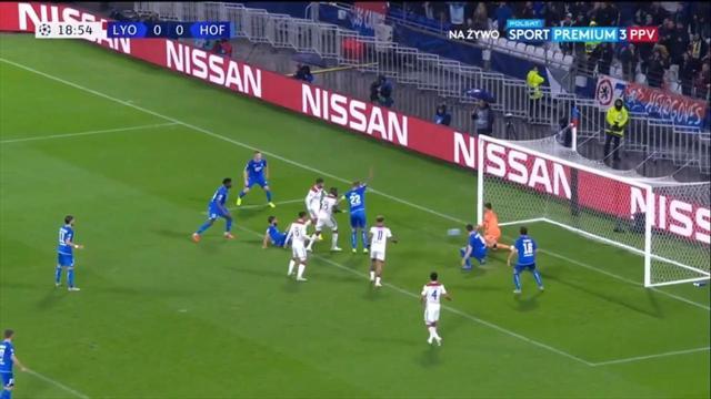 «Лион» расстрелял ворота «Хоффенхайма», но только с пятой попытки запихал мяч в сетку