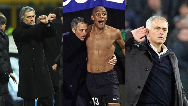 Dalle manette alla mano all'orecchio, le migliori esultanze di José Mourinho