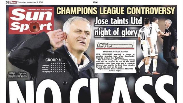 L'esultanza polemica di Mourinho divide la stampa inglese: senza classe o Special Comeback?