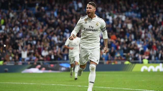 Sergio Ramos fa 100 gol in carriera, poi Vazquez e Vinicius: 3-0 Real Madrid al Leganes