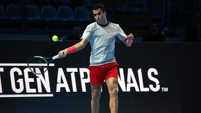 Next Gen ATP 2018, Tiafoe-Munar: Victoria y a semifinales (1-4, 3-4(3) y 1-4)