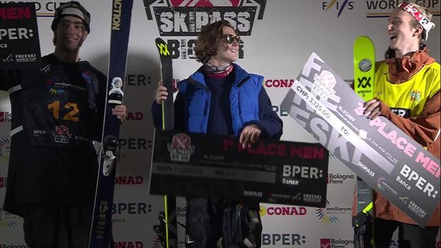Watch the Men's Big Air podium celebrations in Modena