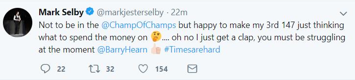 Selby Tweet