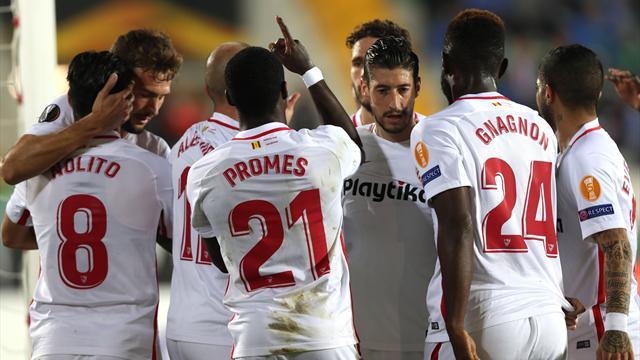 Europa League, Akhisar-Sevilla: Sufriendo sabe mejor (2-3)