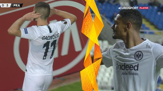 Highlights: Frankfurt spillede sig til knockout-fasen med Europa League-sejr over Apollon