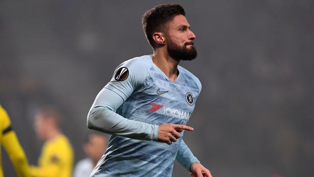 Giroud qualifie Chelsea, le FC Séville s'en sort in extremis