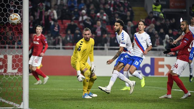 Gerrard's brave Rangers lose seven-goal thriller against Spartak Moscow