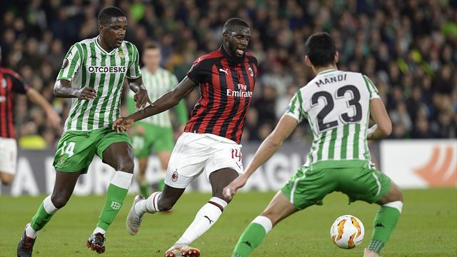 Le pagelle di Betis-Milan 1-1: Suso decisivo, Reina croce e delizia, migliora Bakayoko