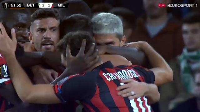 Suso utjämnar för Milan - 1-1 mot Betis