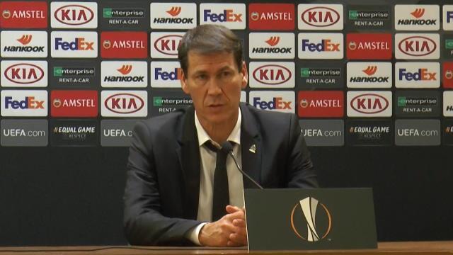 """Garcia : """"Si on avait joué tous les matches comme ce soir, on ne serait pas éliminé"""""""