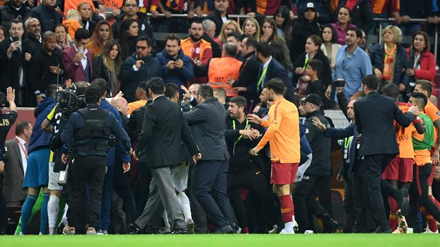 Lengthy bans handed out following Galatasaray v Fenerbahce post-match brawl