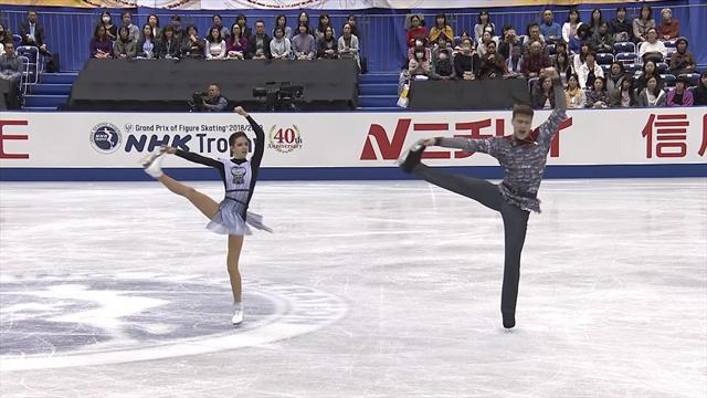 Zabiyako und Enbert nach Kurzprogramm in Front
