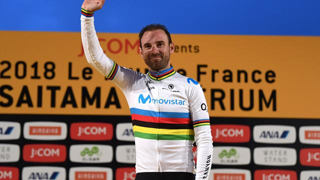 """Valverde : """"Avec ce maillot arc-en-ciel, je me sens grand"""""""