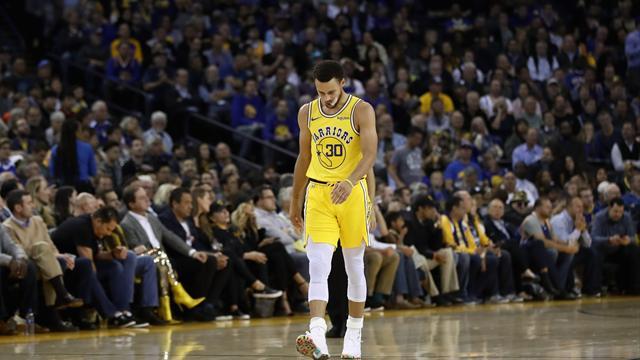 Jornada negra para los Warriors que pierden el invicto y a Curry, lesionado