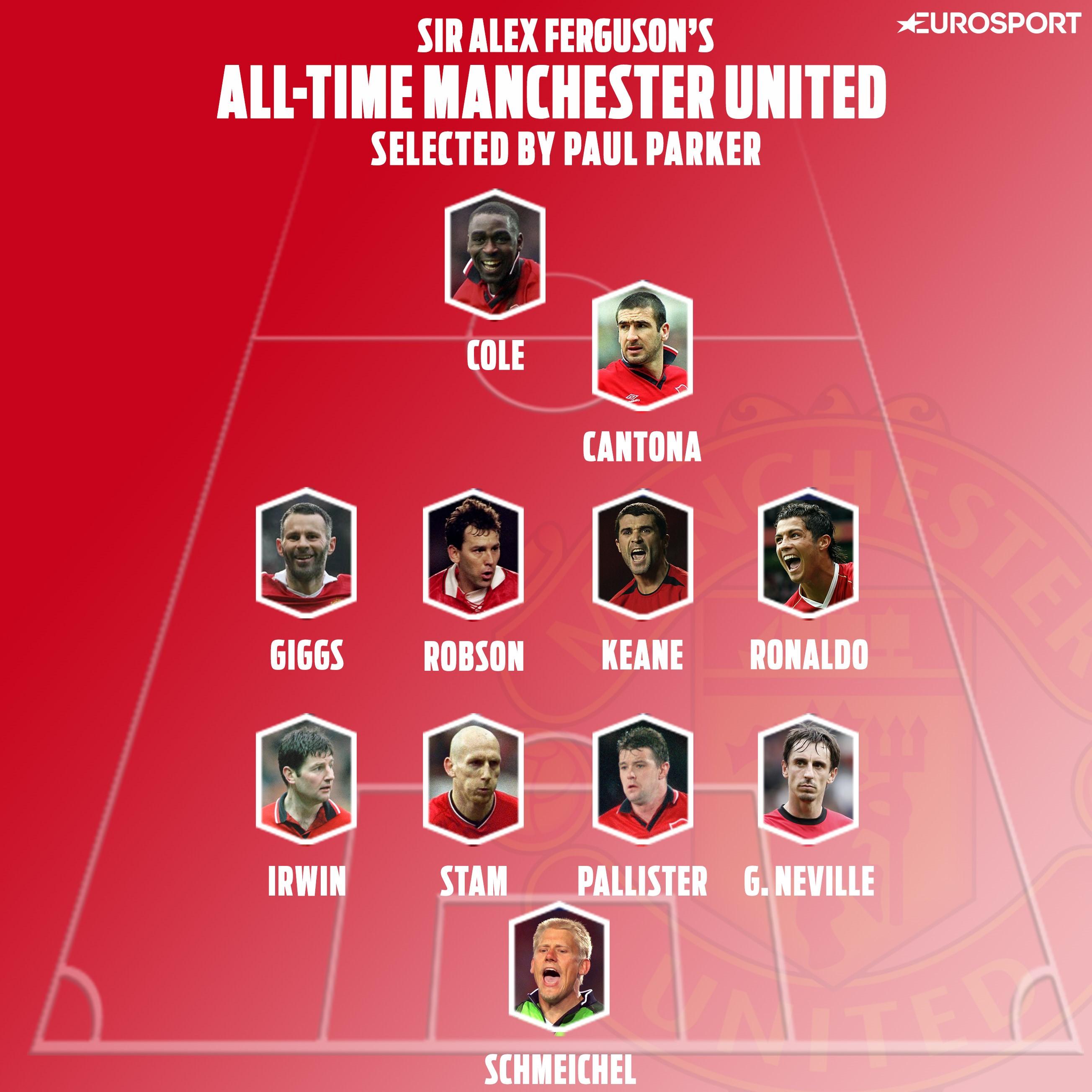 Paul Parker picks Manchester United's greatest side under Sir Alex Ferguson