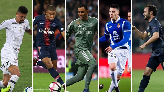 El central que quieren Barça y Madrid, Mbappé, Keylor Navas, Hermoso y Mata, los nombres del día