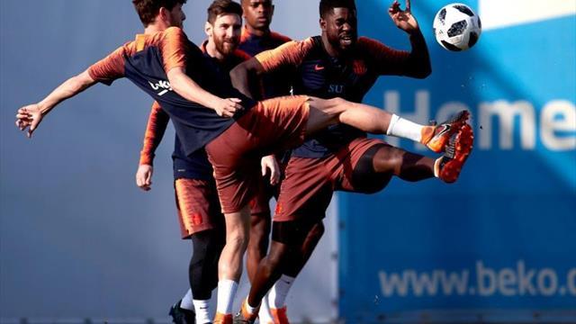 Messi se entrena con normalidad y apunta a su vuelta ante el Betis