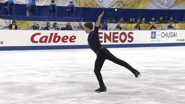 Aliev hits the ice hard in Short Program routine but hints at big future
