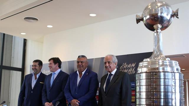 Los presidentes de Boca, River y la Conmebol piden a los hinchas vivir el clásico en paz