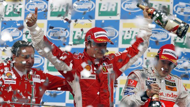 Dal Mondiale di Raikkonen, alla sfida thrilling Massa-Hamilton: tutti gli aneddoti del GP di Brasile