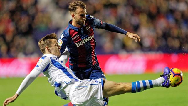 Levante, battu par la Real Sociedad, rate une belle occasion