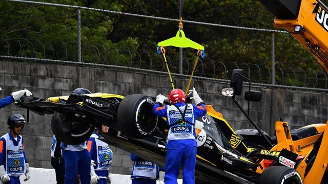 Hulkenberg explains 'small error' behind crash