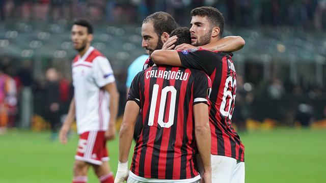 Milan, Higuain torna per la Juve: Çalhanoglu in forse, lesione al legamento crociato per Musacchio
