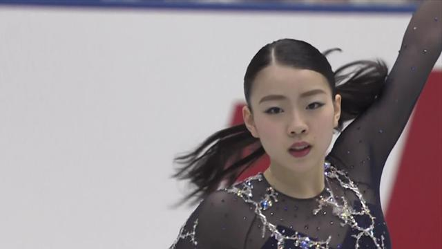 Watch the stunning free skate which delivered gold for Rika Kihira