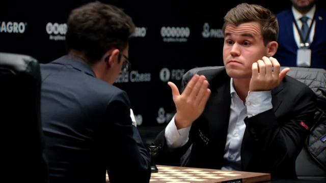 Mundial de Ajedrez 2018: Caruana resiste ante Carlsen con una tablas extenuantes tras siete horas