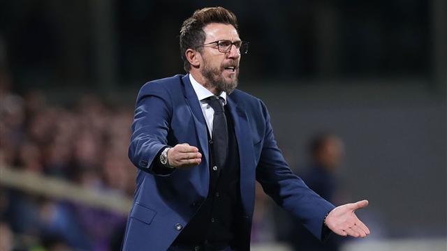 """Di Francesco: """"Voglio maggiore concentrazione dalla mia Roma. Schick? Può giocare con Dzeko"""""""
