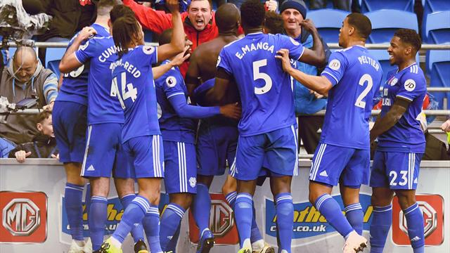 Neil Warnock marks century of Cardiff games with victory over Brighton