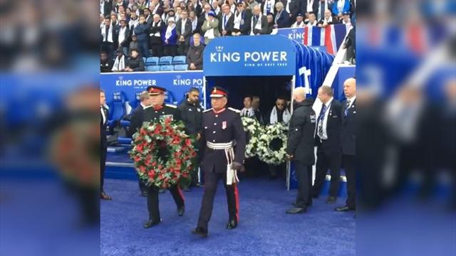«Лестер» устроил трогательную церемонию прощания с погибшим президентом на «Кинг Пауэр»
