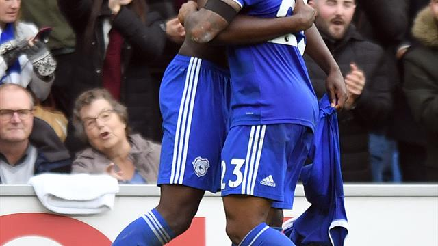 Bamba embroiled in shirt-off celebration row as Cardiff beat Brighton