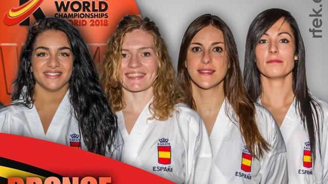 🥉🥋 Bronce para el equipo español femenino de kumite en el Mundial de kárate