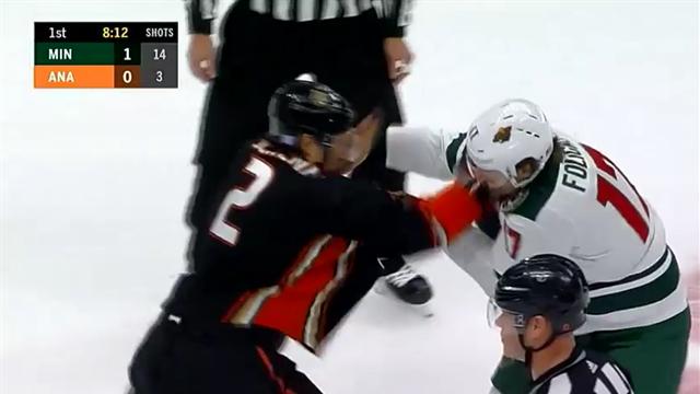 Эпичнейший момент, как хоккеисты «Миннесоты» и «Анахайма» сбросили краги и вступили в рукопашку