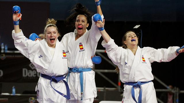 Bronce para el equipo español femenino de kumite en el Mundial de kárate
