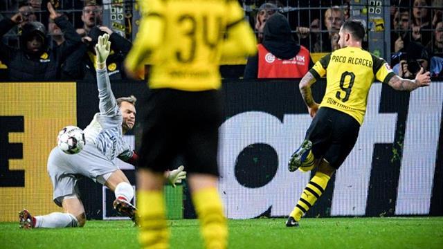 Alcácer da la victoria al Dortmund sobre el Bayern y le hace más líder