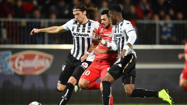 Montpellier tombe à Angers, l'ASSE s'élève contre Reims