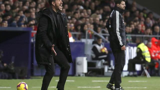 """Simeone: """"Es de las victorias más emocionantes del Metropolitano"""""""