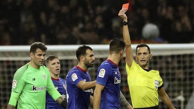 El acta del Atlético-Athletic recoge una expulsión a Berchiche tras finalizar el partido