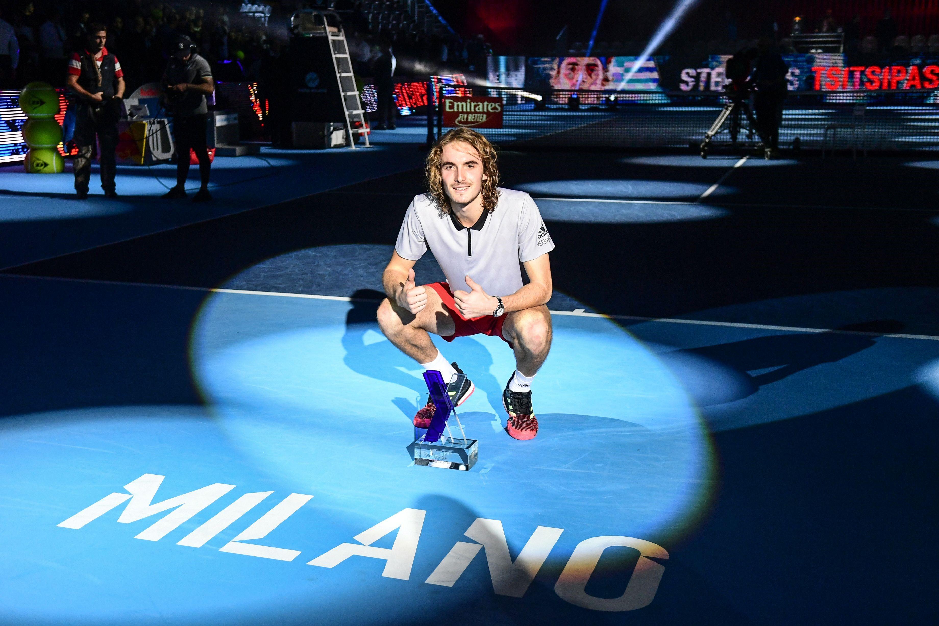 Stefanos Tsitsipas at the NextGen ATP Finals