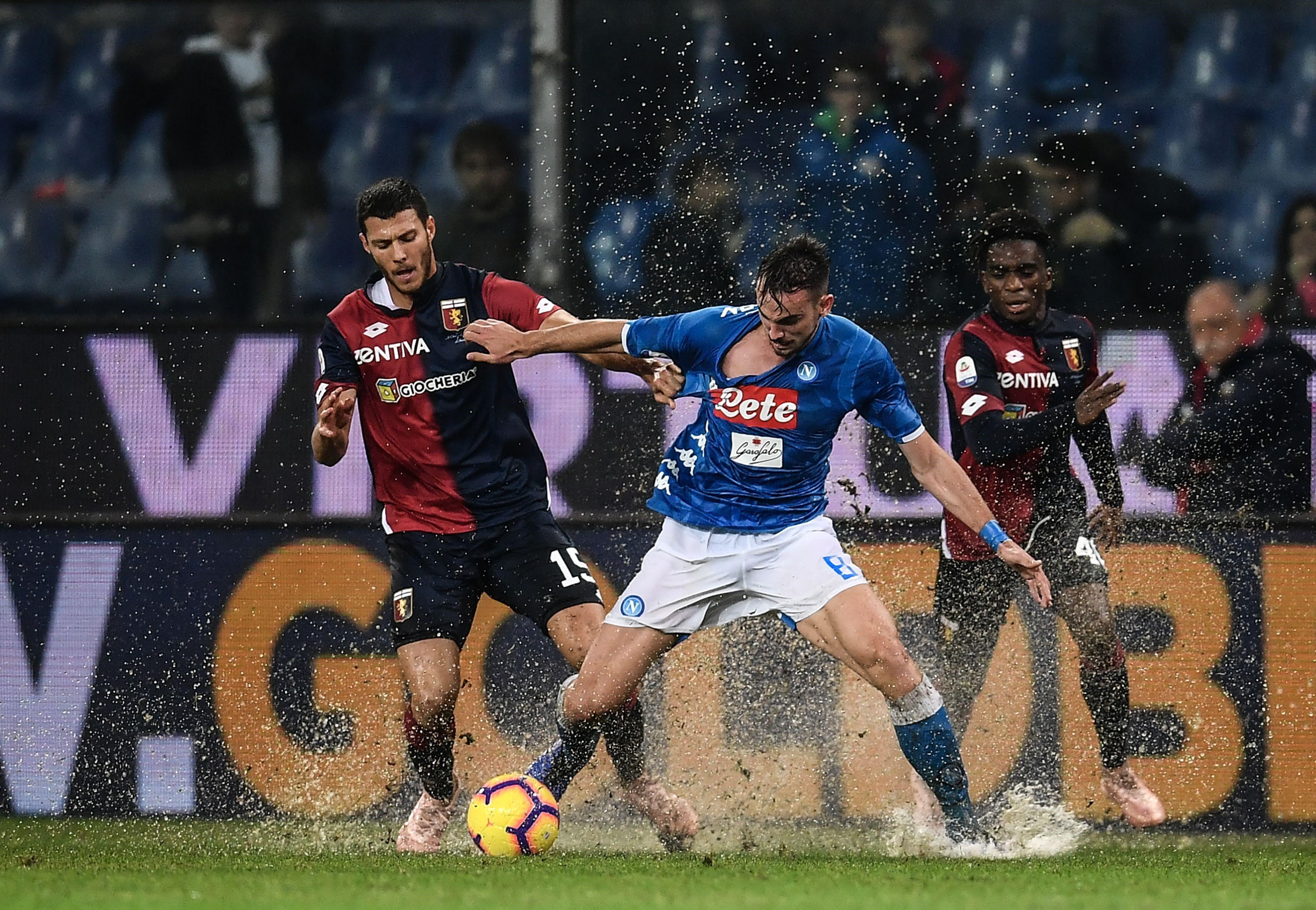 Fabian Ruiz lors de Genoa-Napoli / Serie A