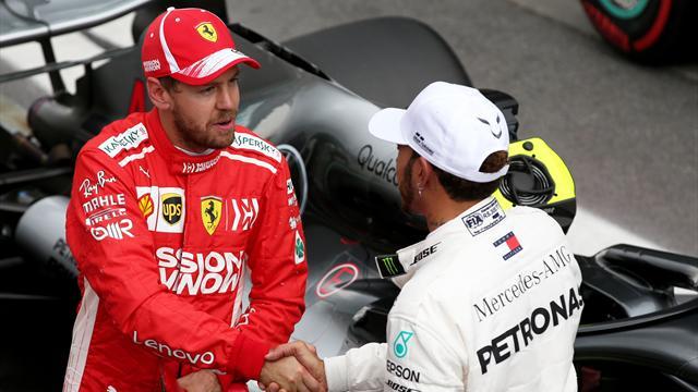 Hamilton et Vettel enterrent la hache de guerre en échangeant leurs casques