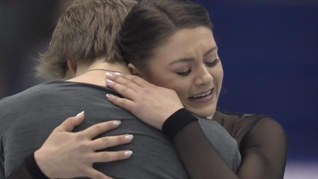 Katelin Hawayek and Jean-Luc Baker claim ice dance title at NHK Trophy