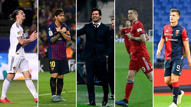 Ibrahimovic, Messi, Solari, Lewandowski y Piatek, los nombres del día