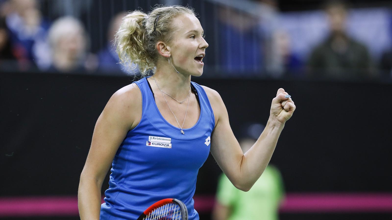 La République tchèque écrase les Etats-Unis et remporte le trophée pour la sixième fois en huit ans - Fed Cup 2018 - Tennis - Eurosport